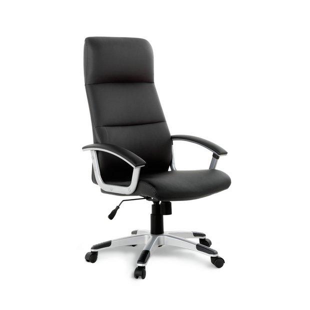 Buy Habitat Orion Faux Leather Ergonomic Office Chair Black Office Chairs Argos