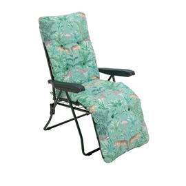 Argos Home Metal Folding Sun Lounger - Wilderness Jungle