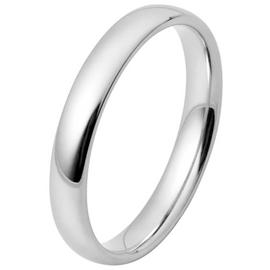 Inara Rhodium Plated Cermaic 3mm Stacking Ring