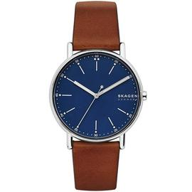 Skagen Men's Signitur brown Leather Strap Watch