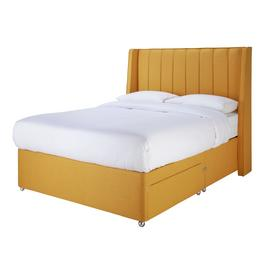 Sleepeezee Hybrid 2000 Pillowtop Double Divan Bed - Mustard