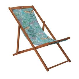 Argos Home Wooden Deck Chair - Wilderness Jungle