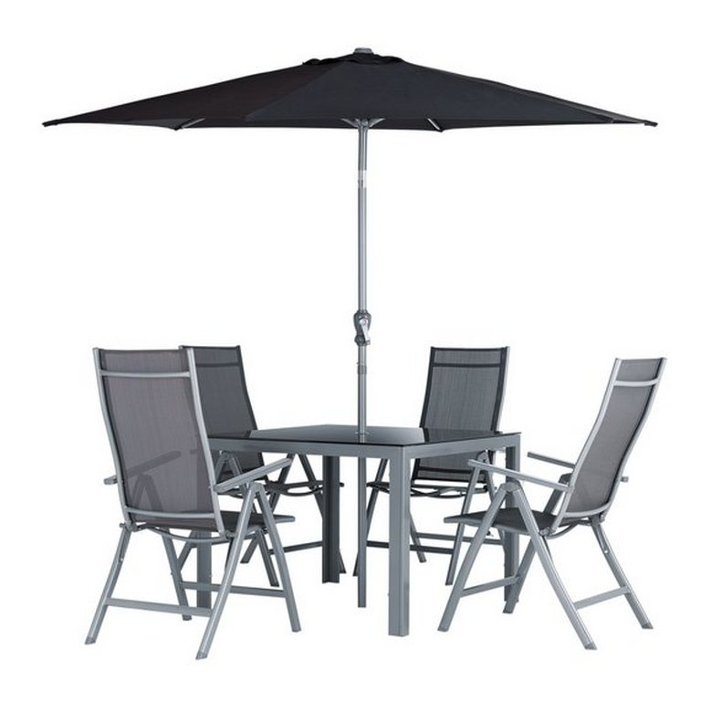 Garden Furniture Sets Uk buy collection malibu 4 seater steel patio set at argos.co.uk