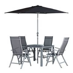 Argos Home Malibu 4 Seater Metal Patio Set