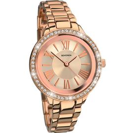 Sekonda Editions Ladies' Rose Gold Colour Bracelet Watch