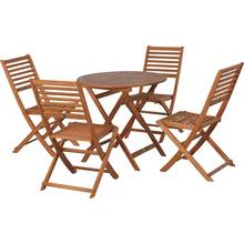 HOME Newbury 4 Seater Wooden Patio Set