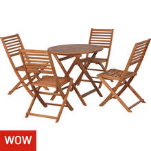 Argos Home Newbury 4 Seater Wooden Patio Set