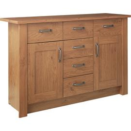Argos Home Ohio 2 Door 6 Drawer Sideboard - Oak Effect