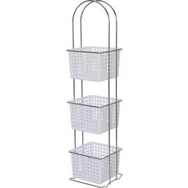 Argos Home 3 Drawer Chrome Storage Caddy - White