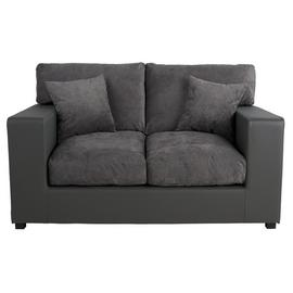 Argos Home Hartley 2 Seater Fabric Sofa - Charcoal