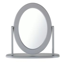 Argos Home Oval Dressing Table Mirror - Grey
