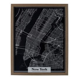 Argos Home Loft Map Wall Art