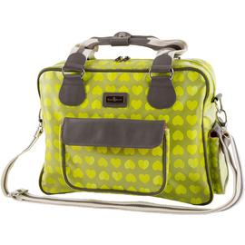 Beau and Elliot Confetti Baby Changing Bag - Lime.