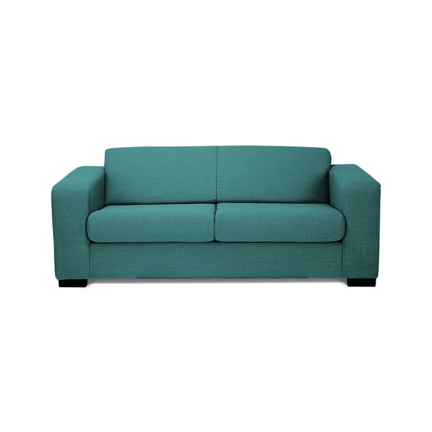 Buy Hygena New Ava 3 Seater Fabric Sofa Teal At Your Online Shop For Sofas