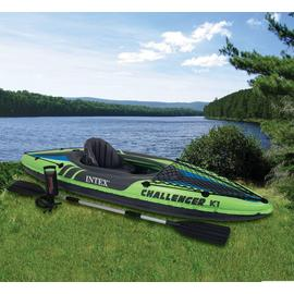Intex Challenger K1 Kayak - Green and Black.