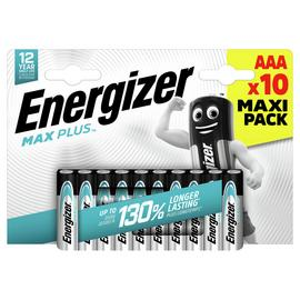 Energizer Max Plus AAA Batteries - Pack of 10