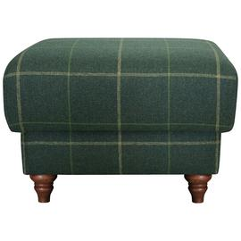 Argos Home Argyll Fabric Storage Footstool - Green Check