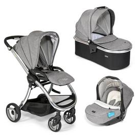 Tutti Bambini Arlo Chrome 3-in-1 Travel System - Charcoal