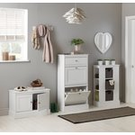 more details on HOME Dover Open Storage Unit with 3 Baskets - White.