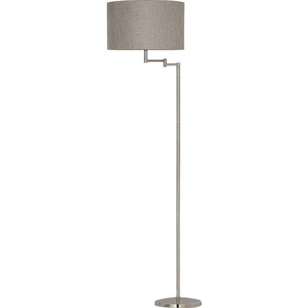 buy heart of house helsinki swing arm floor lamp chrome at. Black Bedroom Furniture Sets. Home Design Ideas