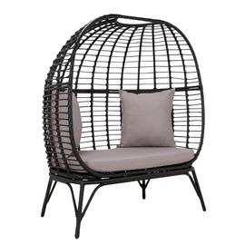 Argos Home Rattan Effect 2 Seater Egg Bench