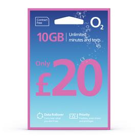 O2 10GB Pay As You Go SIM Card