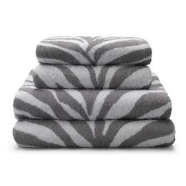 Argos Home Zebra 4 Piece Towel Bale - Grey