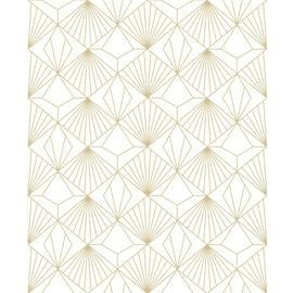 Sublime Diamond Champagne Geometric Wallpaper