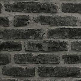 Superfresco Easy Industry Brick Black Wallpaper