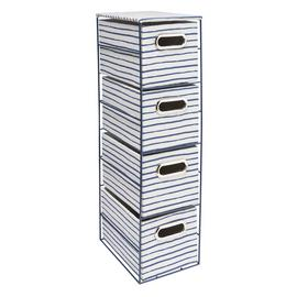 Argos Home Slimline Coastline 4 Draw Storage Tower