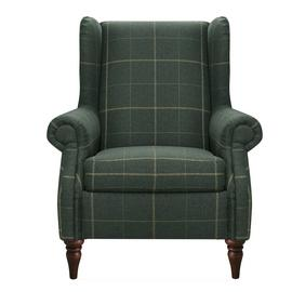 Argos Home Argyll High Back Chair - Green Check