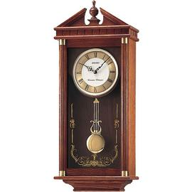 Seiko Oak Dual Chime Pendulum Wall Clock.