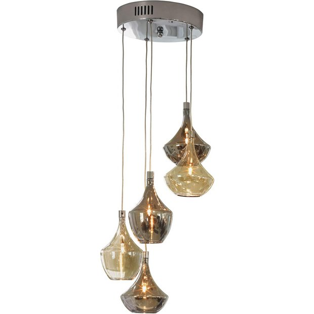 Buy Heart of House Amber 5 Light Ceiling Fitting at Argos.co.uk - Your Online Shop for Ceiling ...