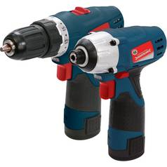 Silverstorm Cordless Impact Wrench and Drill Set - 10.8V