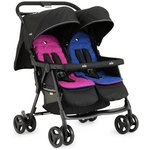 more details on Joie Aire Blue and Pink Twin Pushchair.