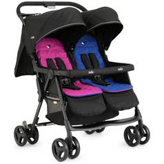 Joie Aire Blue and Pink Twin Pushchair