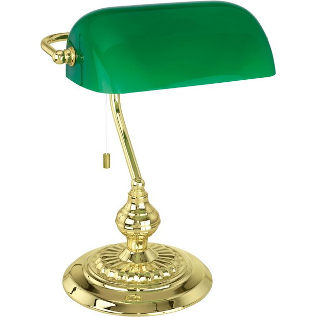 Buy eglo banker table glass light green at argoscouk for Miss k table lamp closeout special