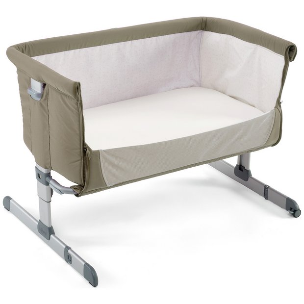 buy chicco next 2 me crib dove grey cots cribs and cot beds argos