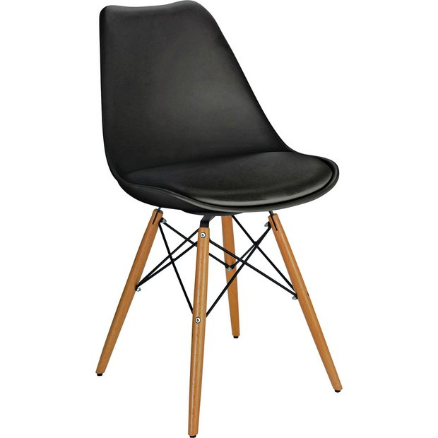 Buy Hygena Charlie Chair - Black at Argos.co.uk - Your ...