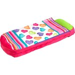 more details on Junior Small Single ReadyBed Airbed and Sleeping bag-Hearts.