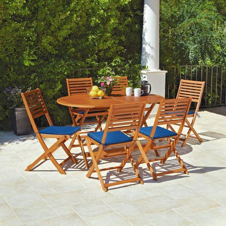 Garden Furniture 6 Seater buy home newbury 6 seater patio set at argos.co.uk - your online
