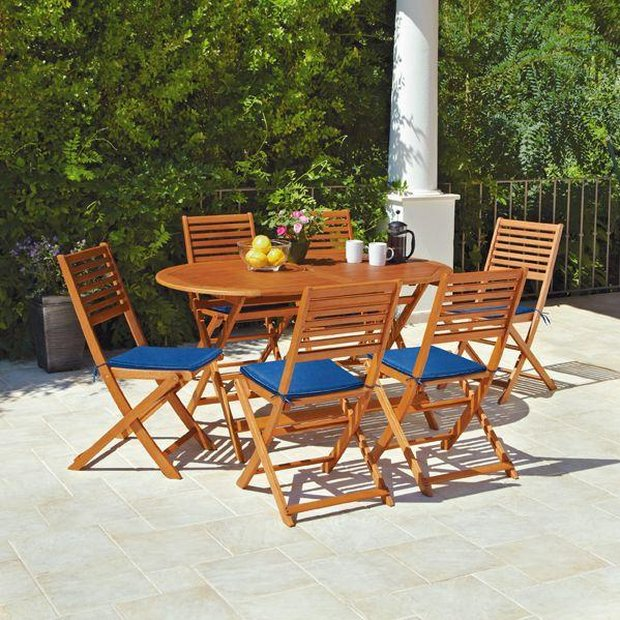 buy home newbury 6 seater patio set at argoscouk your online shop for garden table and chair sets garden furniture home and garden