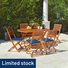 HOME Newbury 6 Seater Wooden Patio Set