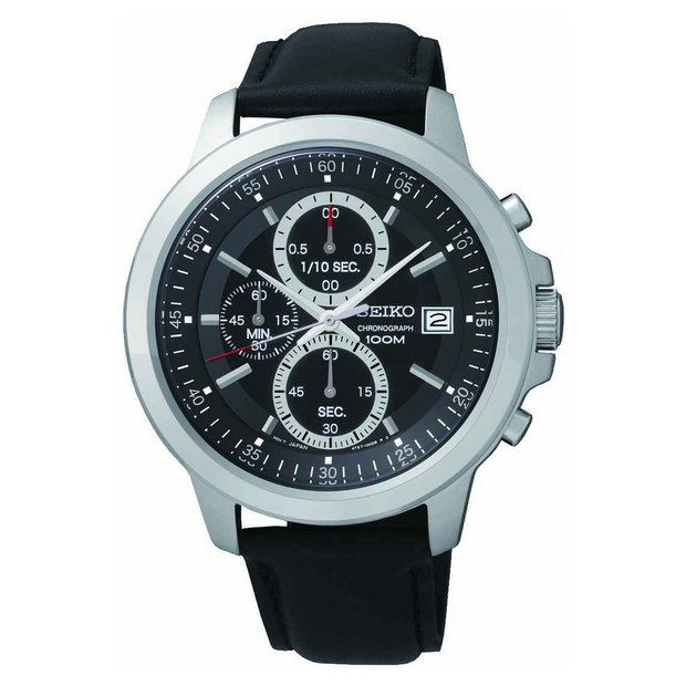 buy seiko men s watches at argos co uk your online shop for more details on seiko men s black dial chrono strap watch