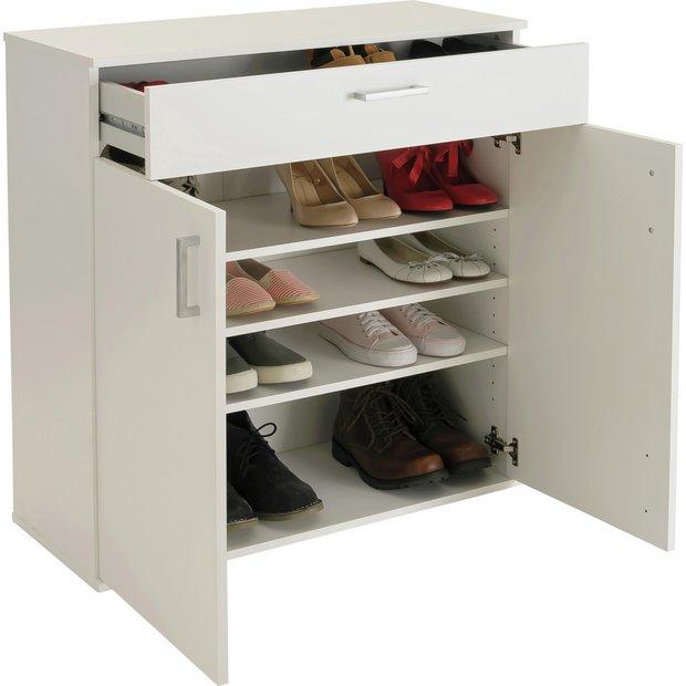 buy argos home venetia shoe storage cabinet white. Black Bedroom Furniture Sets. Home Design Ideas