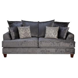 Argos Home Beaumont 3 Seater Fabric Sofa - Charcoal
