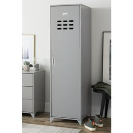 Argos Home Loft Locker 1 Door Wardrobe - Grey