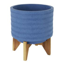 Habitat Olympia Planter on Wooden Legs - Blue