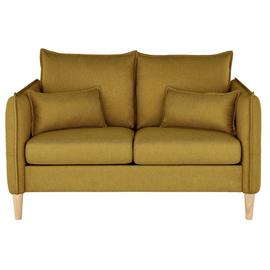 Argos Home Etta 2 Seater Fabric Sofa in a Box - Mustard