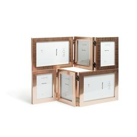 Argos Home Multi Phone Frame - Rose Gold